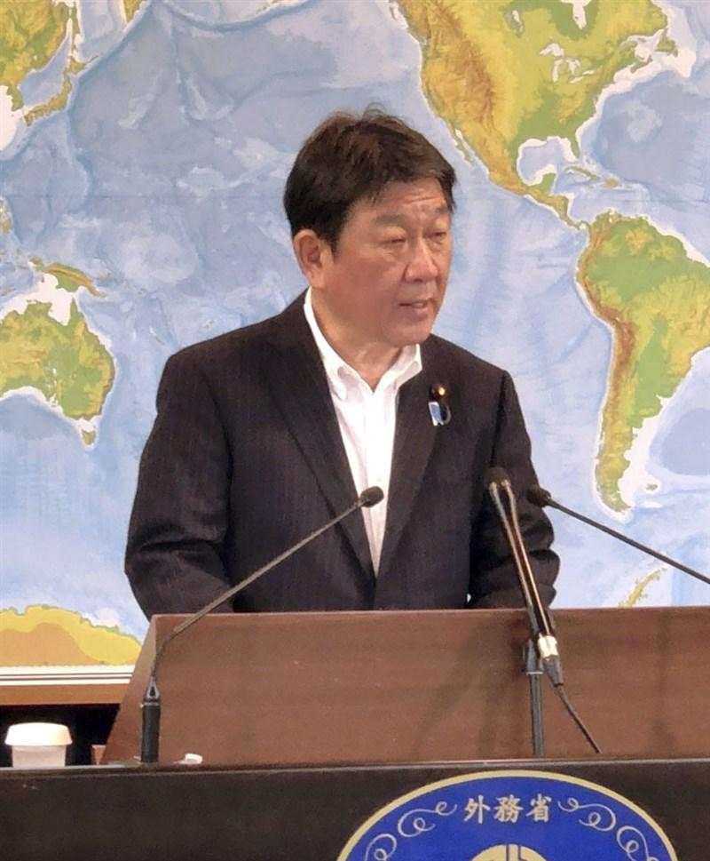 日本外相茂木敏充宣布,16日將對越南提供約100萬劑AZ疫苗,另研擬後續追加提供疫苗給台灣與越南。(共同社)