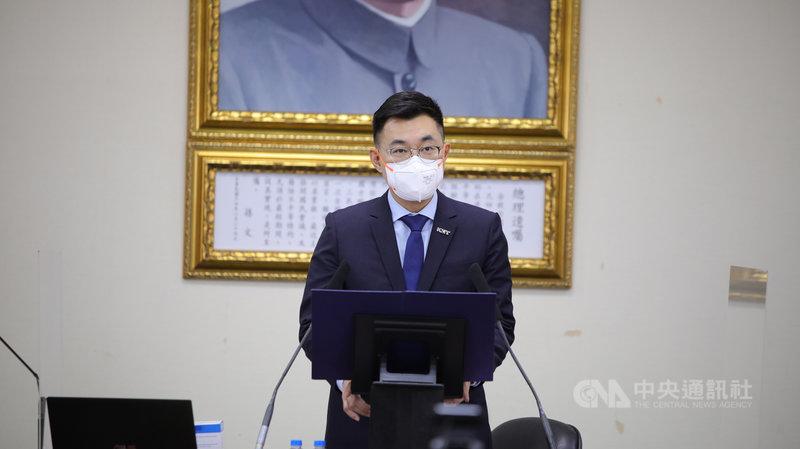 國民黨主席江啟臣16日表示,國民黨將在下週召開專家視訊會議,希望可以研議各項方針,提出具體建言。(國民黨提供)中央社記者劉冠廷傳真  110年6月16日