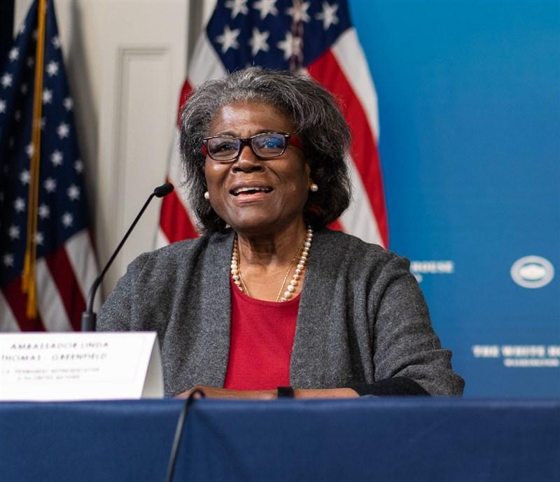 美國駐聯大使湯瑪斯-葛林斐德16日出席國會聽證會,批評中國在聯合國挑釁脅迫作為。(圖取自twitter.com/USAmbUN)