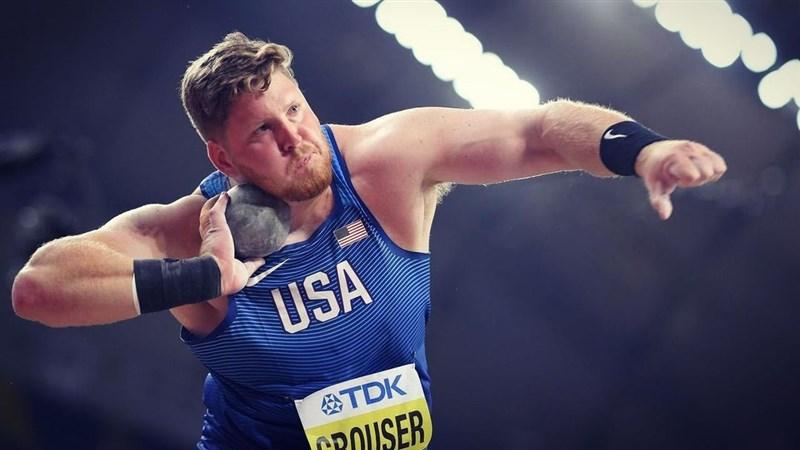 美國選手克勞什(圖)18日在俄勒岡州尤金舉辦的美國奧運隊田徑選拔賽男子鉛球項目,擲出23.37公尺,刷新世界紀錄。(圖取自nstagram.com/rcrouser)