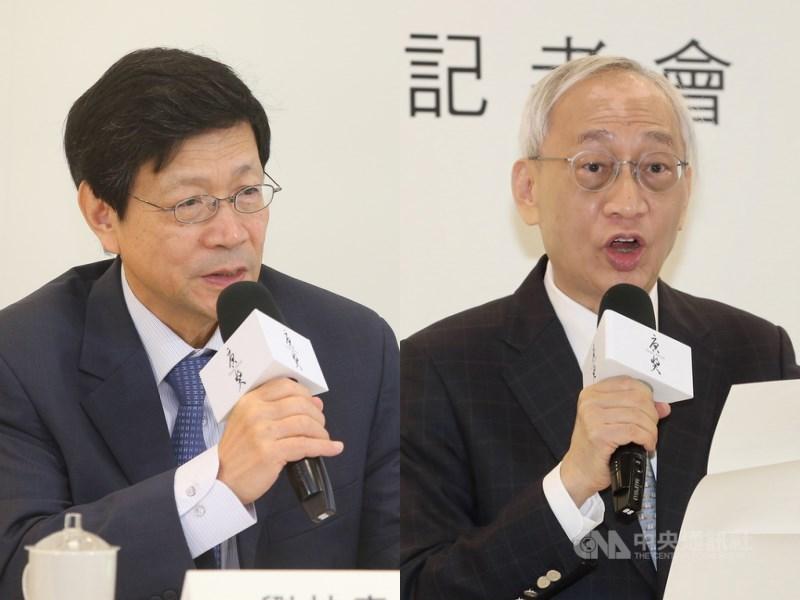 總統府21日發布總統令,任命劉扶東(左)、黃進興(右)為中央研究院副院長。(中央社檔案照片)