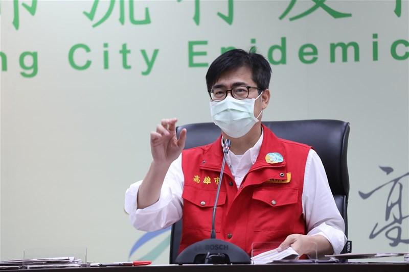 高雄市長陳其邁(圖)23日表示,新北市恩主公醫院其中1名住院病患回高雄引發7人確診,籲恩主公醫院重啟疫調。(高雄市政府提供)