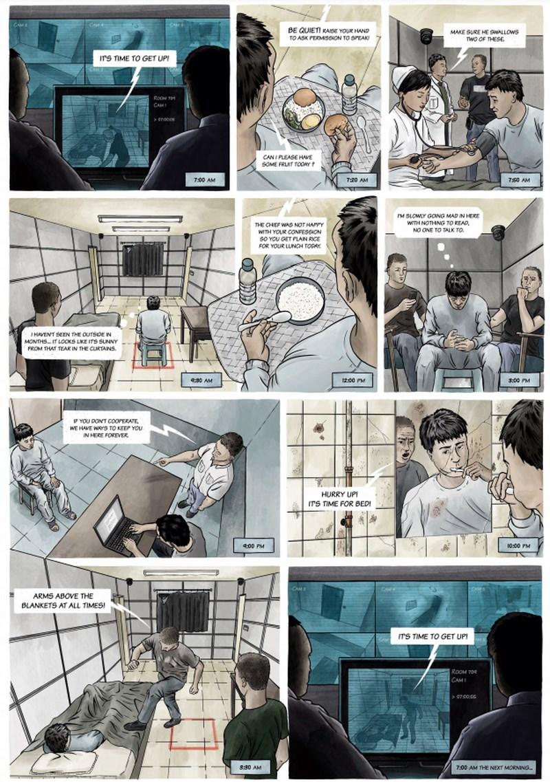 人權組織「保護衛士」日前發表圖像報告,揭露中國「指定居所監視居住(RSDL)」行為。(圖取自twitter.com/SafeguardDefend)