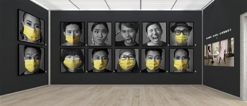 公益團體One-Forty於24日推出線上3D互動式展廳「1/40〞立體攝影展」,在「面對面」展區中展出東南亞移工與台灣人戴上口罩後所拍下的個人肖像特寫。(One-Forty提供)中央社記者陳秉弘傳真 110年6月24日