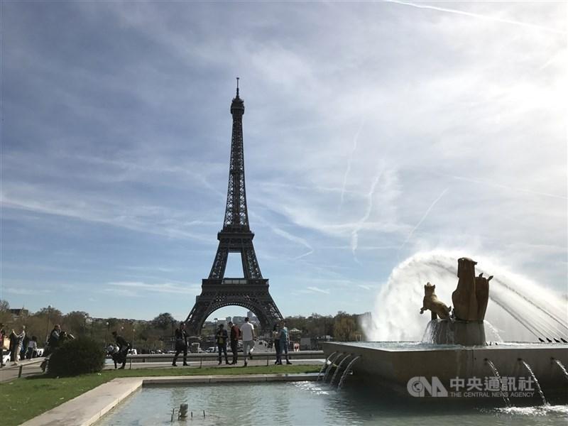 法國外交部24日正式公告將台灣入列邊境開放綠區國家名單,台灣民眾赴法視同歐盟居民,不需要打疫苗也可入境觀光。 (中央社檔案照片)
