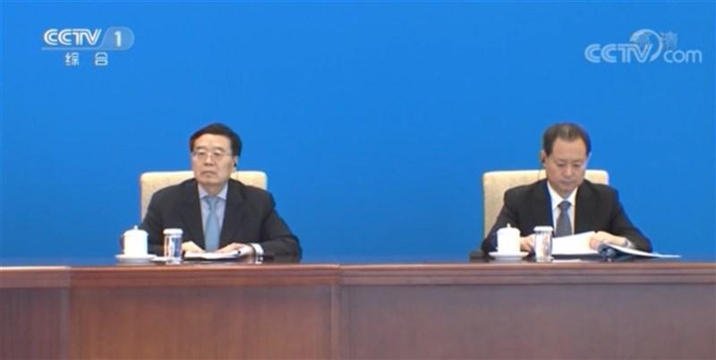 外傳叛逃美國的中國國家安全部副部長董經緯,昨天出席上海合作組織成員國安全會議秘書第16次會議。官媒央視新聞也披露董經緯(右)在會中的畫面。(取自央視)