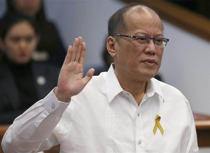 菲律賓多家媒體報導,前總統艾奎諾三世24日逝世,享壽61歲。圖為艾奎諾三世2017年檔案照片。(美聯社)