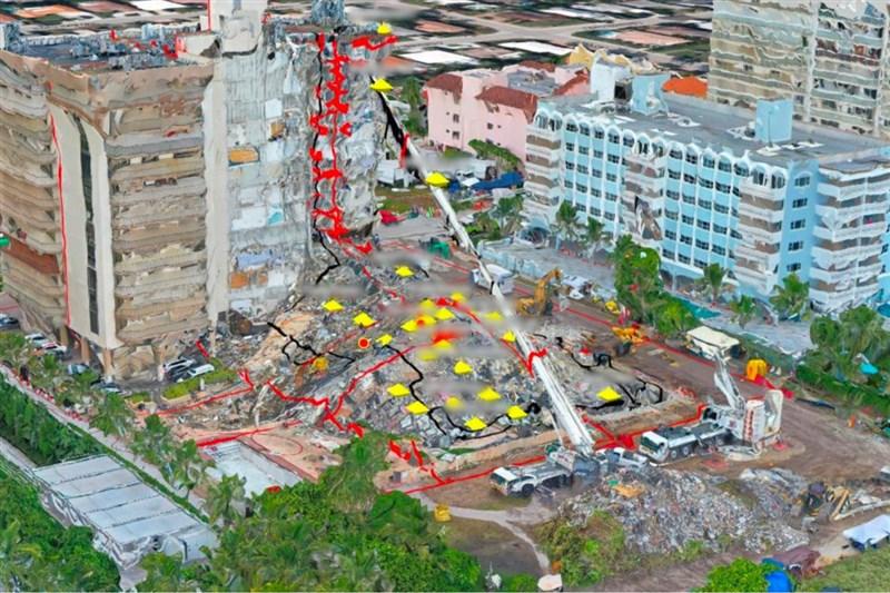 美國佛羅里達州公寓大樓倒塌截至6月30日仍有147人下落不明。以色列軍方用空拍與衛星資料繪製精細的3D地圖,協助尋找瓦礫推下的受害者。(圖取自以色列國防軍網頁www.idf.il)