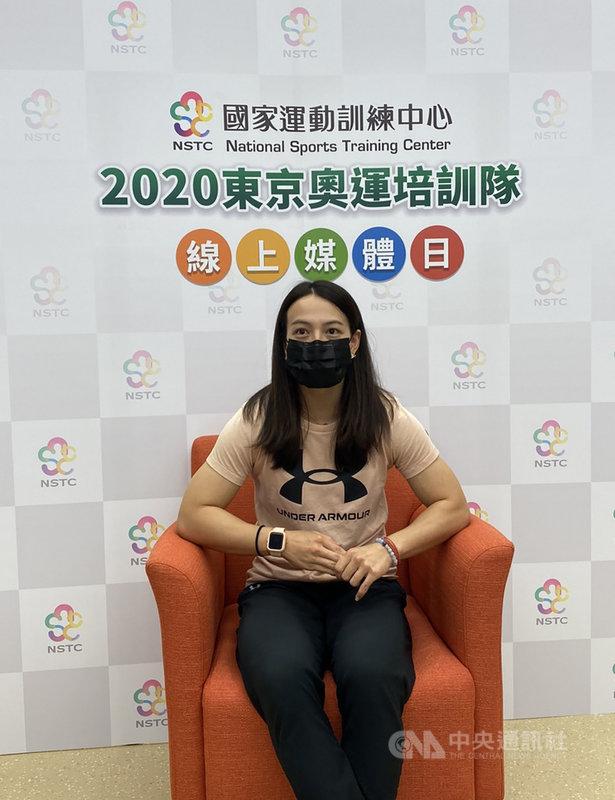 台灣「舉重女神」郭婞淳1日下午暢談近來備戰東京奧運狀況,也透露最近狀況已慢慢恢復,對自己有一定的信心,她希望自己在東奧可以順利拿下金牌,帶給大家一些希望和力量。(國訓中心提供)中央社記者龍柏安傳真  110年7月1日