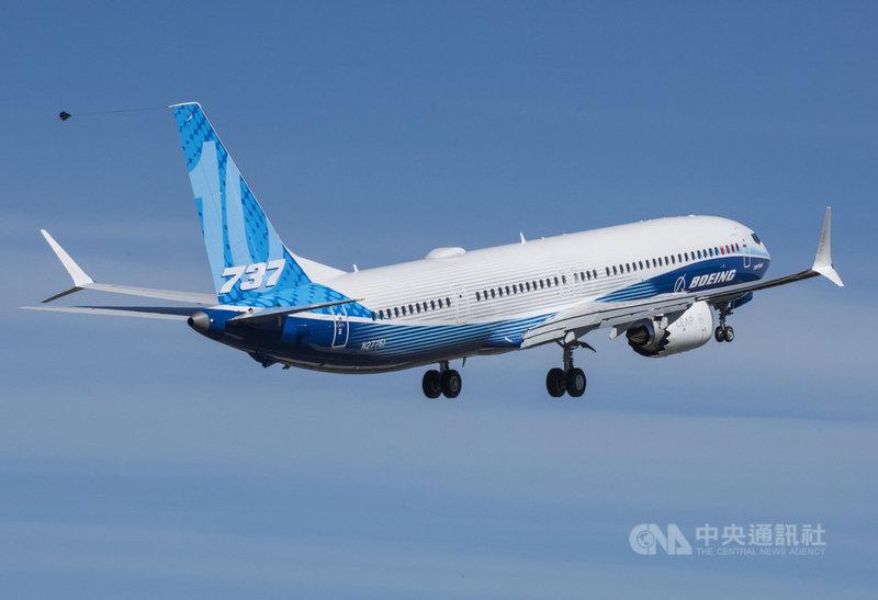 波音737 MAX 10 於6月18日測試首航,訂於2023年啟用。(波音公司提供)中央社記者周世惠舊金山傳真 110年7月3日