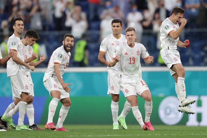 「無敵艦隊」西班牙2日在2020歐洲國家盃擊敗瑞士,挺進最後4強。(圖取自facebook.com/EURO2020)