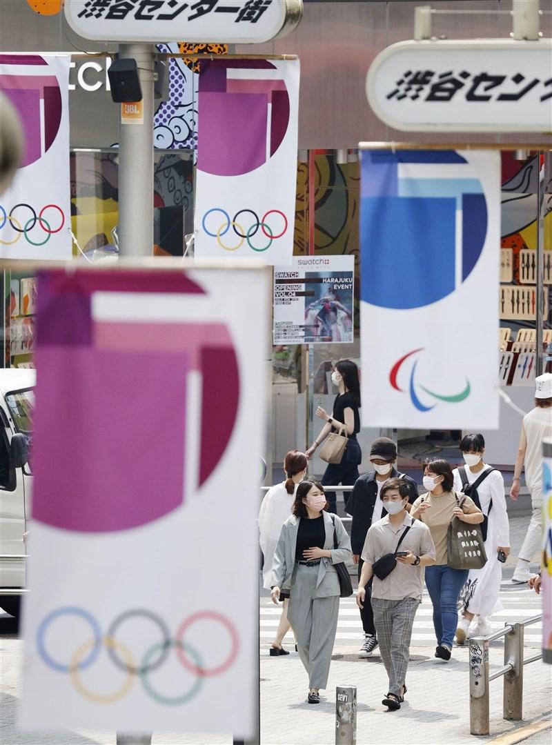 日媒報導,日本政府將針對疫情擴大的東京都4度發布「緊急事態宣言」,期限到8月22日止。這意味東奧將在緊急事態下開幕。(共同社)