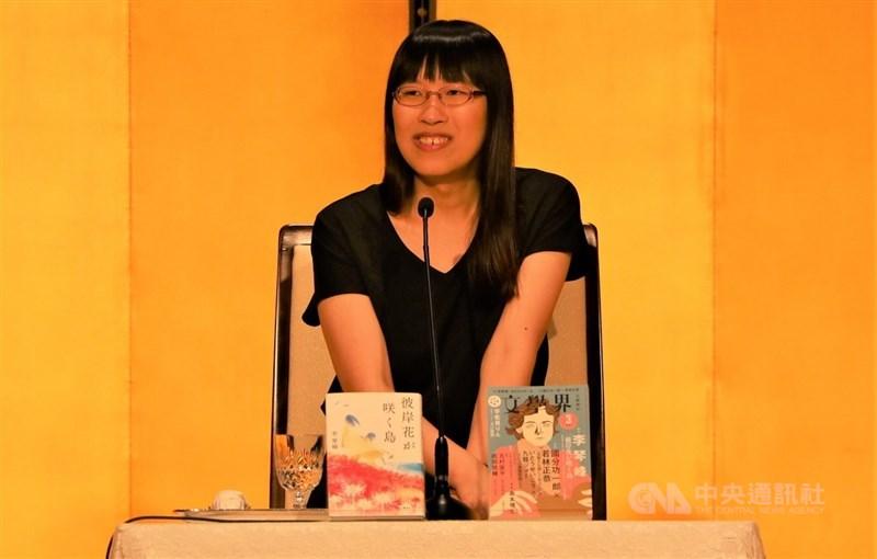 台灣旅日作家李琴峰以新作「彼岸花盛開之島」榮獲芥川獎,是第2位非以日語為母語的作家獲得芥川獎。中央社記者楊明珠東京攝 110年7月14日