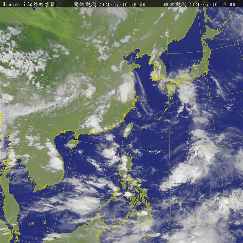 中央氣象局16日表示,第6號颱風烟花最快下週生成,路徑可能會偏西北走,也就是日本跟台灣中間那一帶。(圖取自中央氣象局網頁cwb.gov.tw)