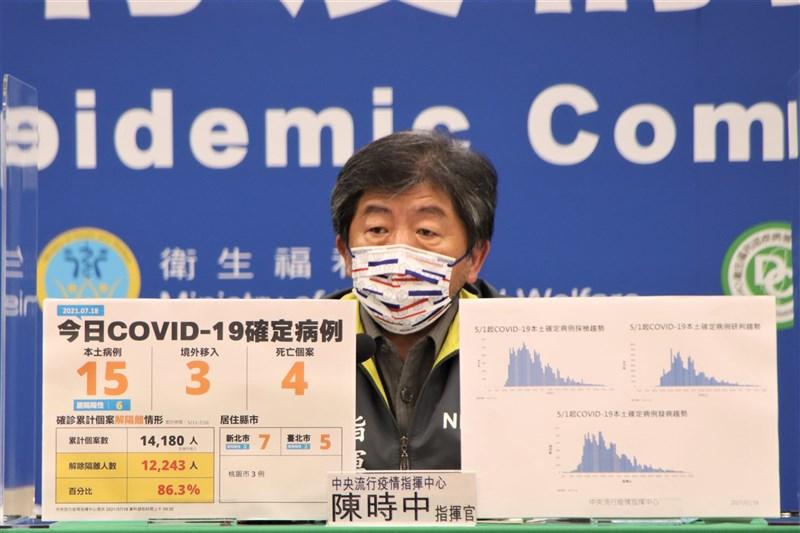 因保密協定,COVID-19疫苗採購價無法公布,指揮中心指揮官陳時中18日再被問及此事。他認為,現階段問疫苗採購價,恐使進貨受干擾。(指揮中心提供)