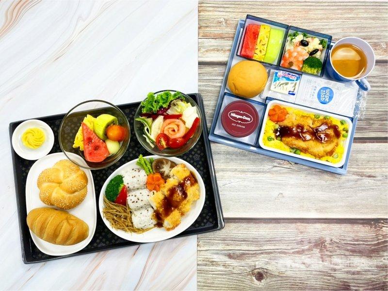 2020東京奧運即將開幕,中華代表隊19日下午將搭乘華航東京奧運專機前往日本。華航特別提供特製機上餐點,其中主菜為高蛋白低脂的「勝利雞排丼飯」,連結與日語勝利(KaTsu)相同的涵義。(華航提供)中央社記者汪淑芬傳真 110年7月19日