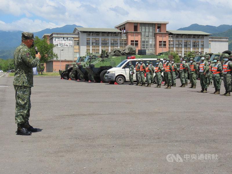 颱風烟花來襲,負責北台灣救災及戰備的國軍第三作戰區21日已完成整備,隨時將投入災害防救。(第三作戰區提供)中央社記者游凱翔傳真 110年7月21日
