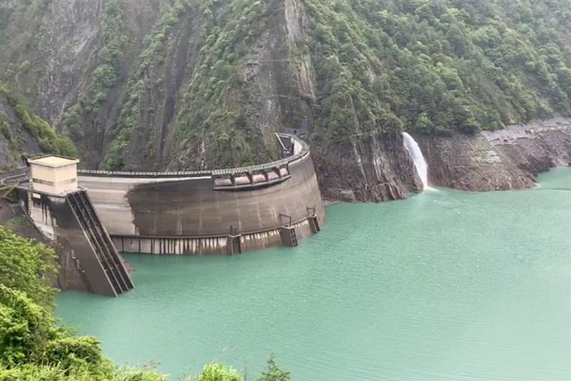 德基水庫7月1日有效蓄水率34.9%,且水位已達到夏季水位規線。(民眾提供)中央社記者趙麗妍傳真 110年7月1日