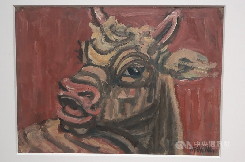 韓國國立現代美術館7月21日起至2022年3月13日舉行「李健熙藏品特展─韓國美術名作」,展出34位韓國近現代美術作家的58件作品,包括畫家李仲燮在1950年代創作的油畫「黃牛」。中央社記者廖禹揚首爾攝 110年7月21日