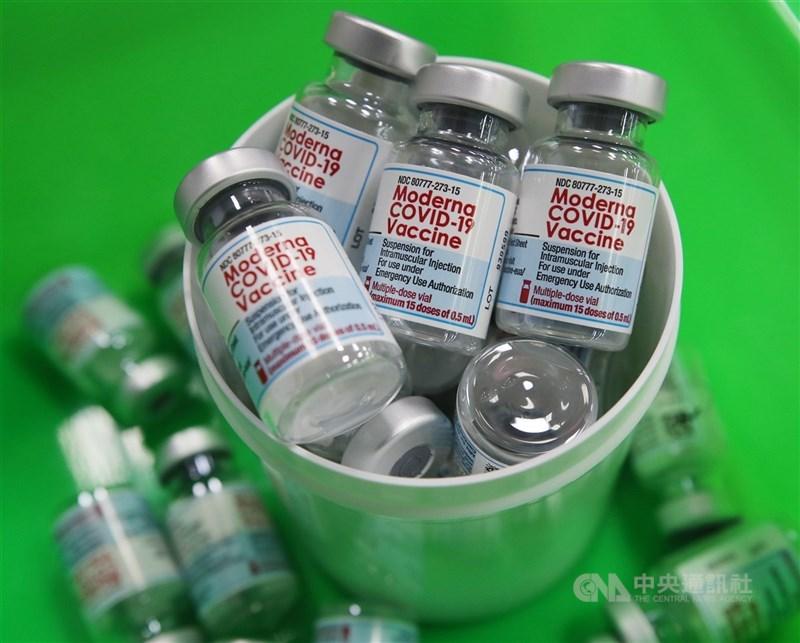 行政院長蘇貞昌表示,21日已完成共3600萬劑的莫德納疫苗採購合約案。圖為莫德納疫苗。(中央社檔案照片)