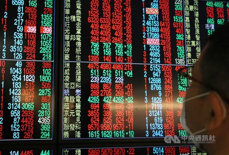台股22日終場上漲113.54點,以17572.33點作收。(中央社檔案照片)