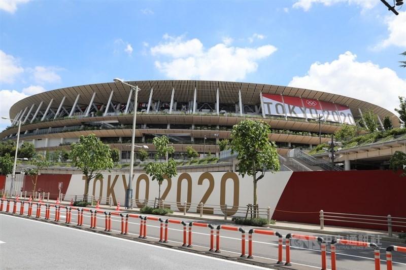 西非國家幾內亞之前以擔心COVID-19疫情為由,宣布不派其5人團隊參加東京奧運,但22日宣布取消退出奧運的決定。圖為東奧主場館國立競技場。(中央社檔案照片)
