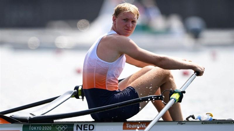 荷蘭划船選手弗羅林在日本接受COVID-19篩檢,結果呈陽性反應,將退出比賽。(路透社)