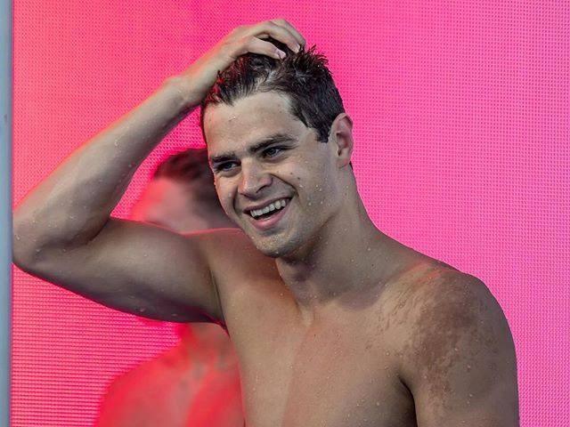 可望為美國奪牌的游泳好手安德魯在備戰東京奧運期間決定不打COVID-19疫苗,引發多名游泳選手之間的論戰。(圖取自facebook.com/SwimmerMichaelAndrew)