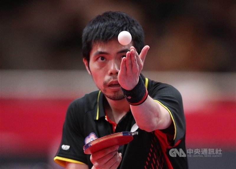 台灣奧運5朝元老莊智淵25日在東京奧運桌球男單順利晉級第3輪。(中央社檔案照片)