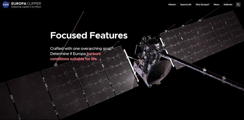 NASA木衛二快艇號任務,將由SpaceX發射太空飛行器至木星的歐羅巴衛星。(圖截取自europa.nasa.gov)