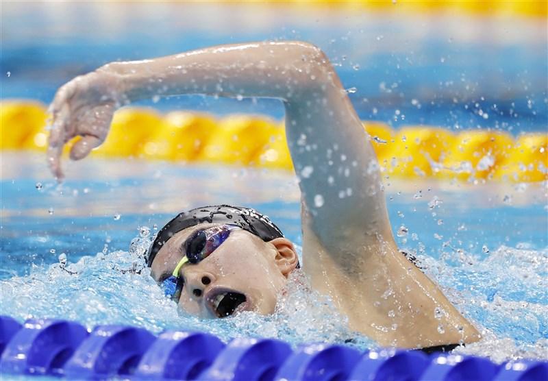 東京奧運25日進行女子400公尺個人混合泳賽事,25歲日本選手大橋悠依摘下金牌。(共同社)