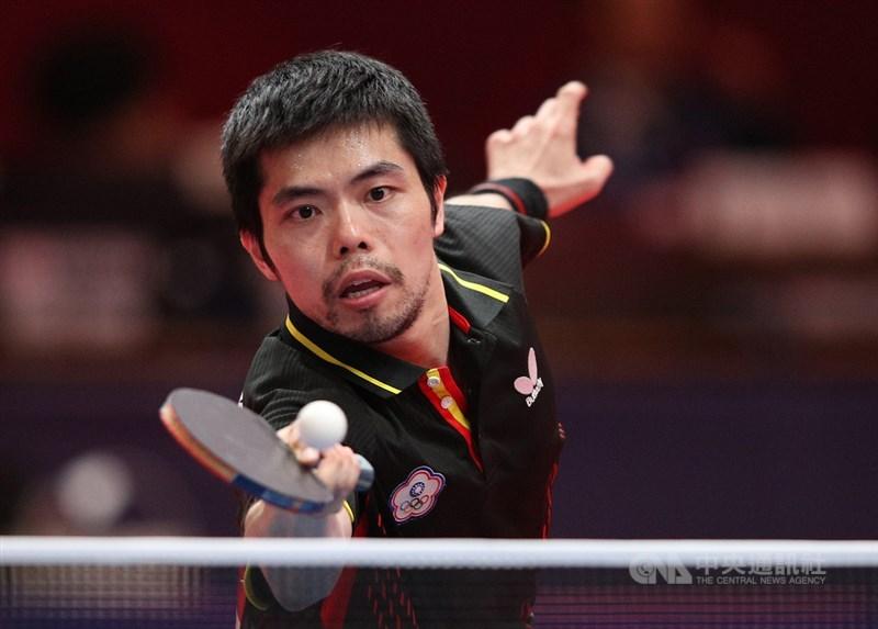 台灣奧運5朝元老莊智淵26日在東京奧運桌球男單以4比1奪勝、順利晉級16強。(中央社檔案照片)