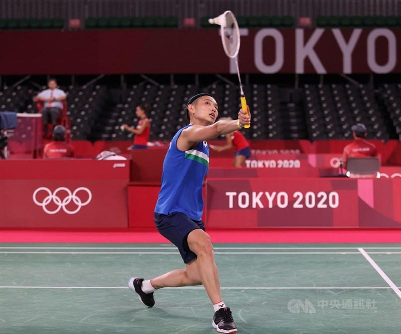 世界羽球球后戴資穎28日將在小組賽力拚3連勝,爭取8強門票。中央社記者吳家昇攝 110年7月24日