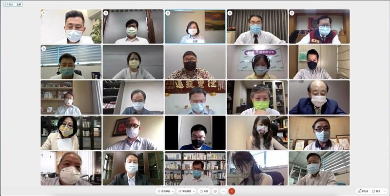 民進黨28日召開中常會,因應防疫,採用線上視訊會議。(民進黨提供)中央社記者葉素萍傳真 110年7月28日
