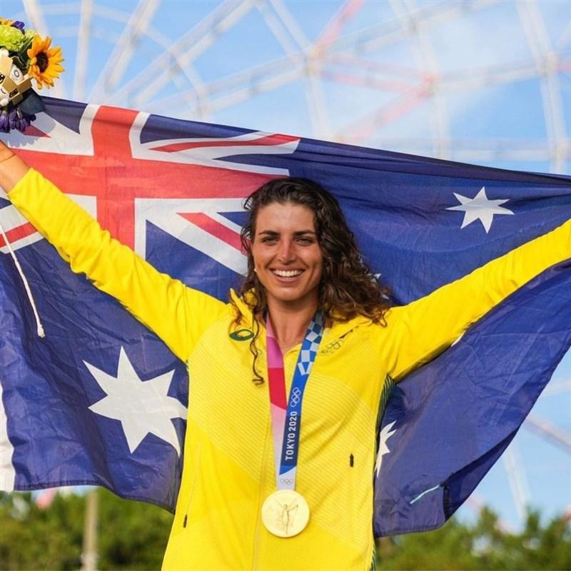 澳洲選手福克斯29日在東京水流湍急的賽道表現幾乎毫無瑕疵,奪下奧運首次舉辦的加拿大式艇輕艇激流女子賽事金牌。(圖取自instagram.com/jessfox94)