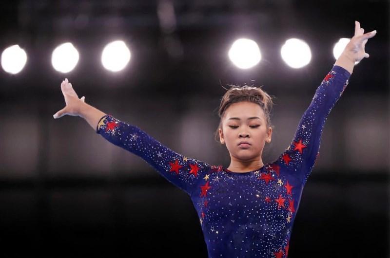 東京奧運晚間進行的體操女子個人全能項目,美國隊的李伊獲得金牌。(圖取自instagram.com/sunisalee_)