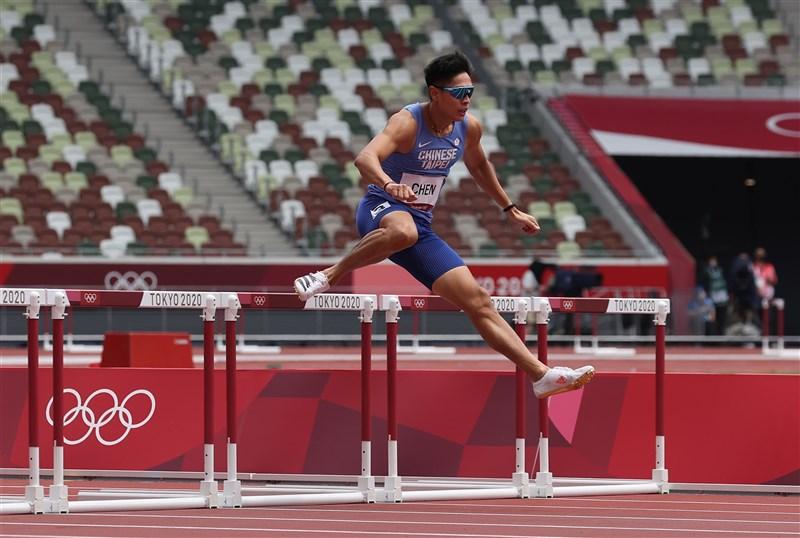 台灣田徑好手陳傑30日出戰東京奧運田徑項目男子400公尺跨欄預賽,最終跑出50秒96。(體育署提供)