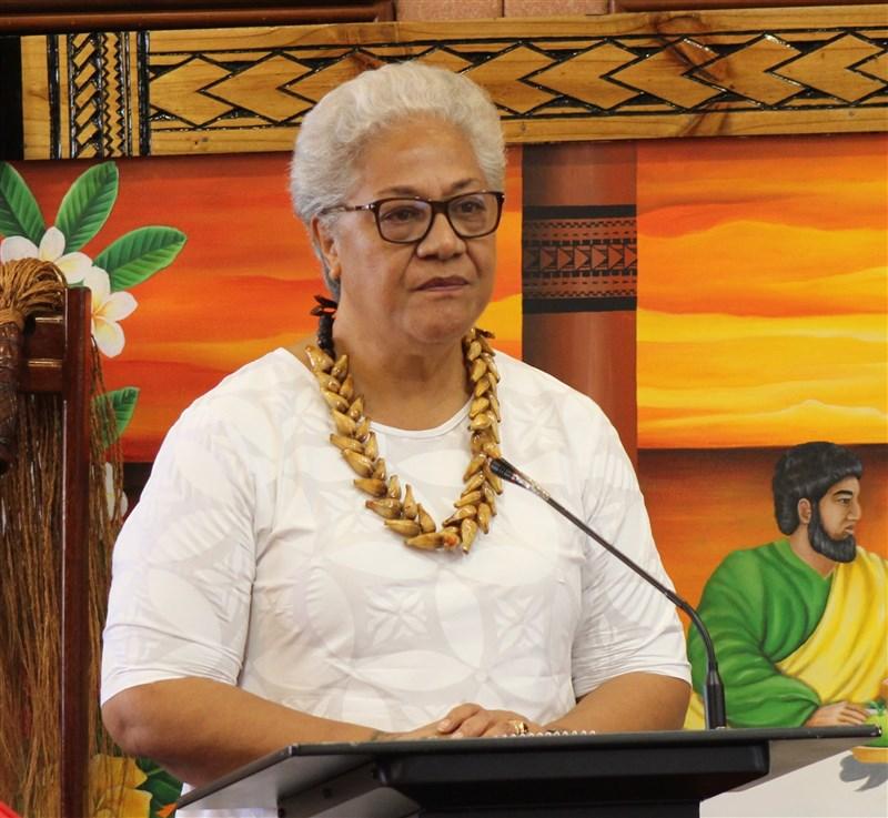 太平洋島國薩摩亞新任總理馬塔法已證實,她將取消中國同意資助1億美元的維烏蘇灣港口開發計畫。(圖取自facebook.com/samoagovt)