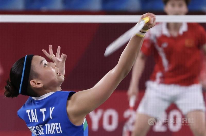 戴資穎1日出戰羽球女單金牌戰,根據新媒體業者愛爾達統計,MOD平台收視率高點逼近20,締造新紀錄。中央社記者吳家昇攝 110年8月1日