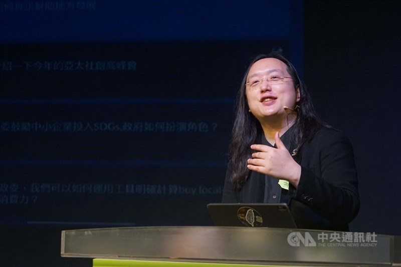 行政院政務委員唐鳳(圖)近日接受澳洲廣播公司(ABC)訪問,分享台灣利用數位科技,作為支持開放社會和透明政府的經驗。(中央社檔案照片)