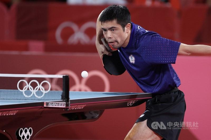 台灣男子桌球代表隊3日在東京奧運團體8強賽終場以2比3不敵德國、無緣晉級,「桌球教父」莊智淵(圖)稱讚19歲的林昀儒表現亮眼,樂見世代交替。中央社記者吳家昇攝 110年8月3日