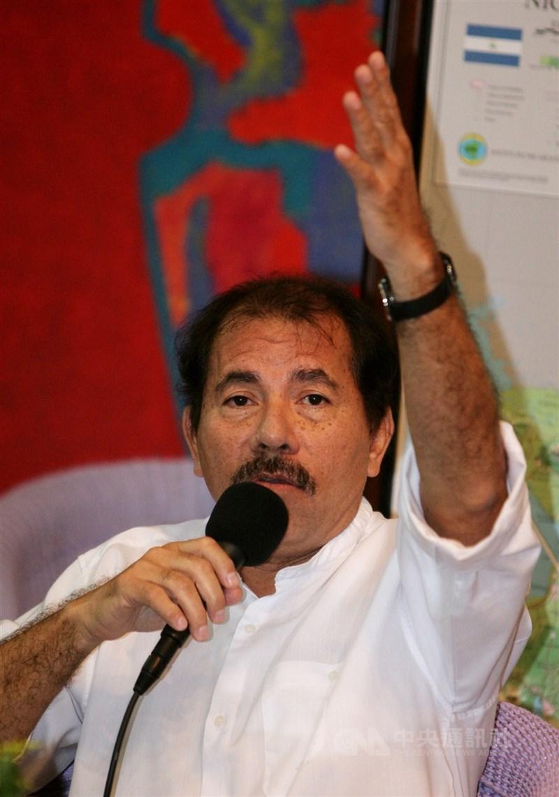 尼加拉瓜政府持續鎮壓反對派人士,為此歐盟宣布,將總統奧蒂嘉(圖)的妻子暨副總統穆麗優等人納入制裁名單。(中央社檔案照片)