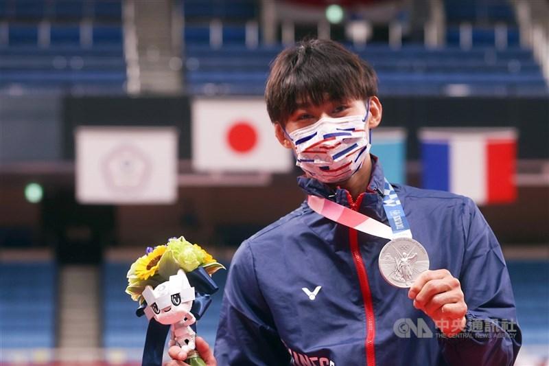 台中市籍選手楊勇緯拿下奧運柔道銀牌,台中市表示將提高奧運銀牌激勵金至200萬元。(中央社檔案照片)