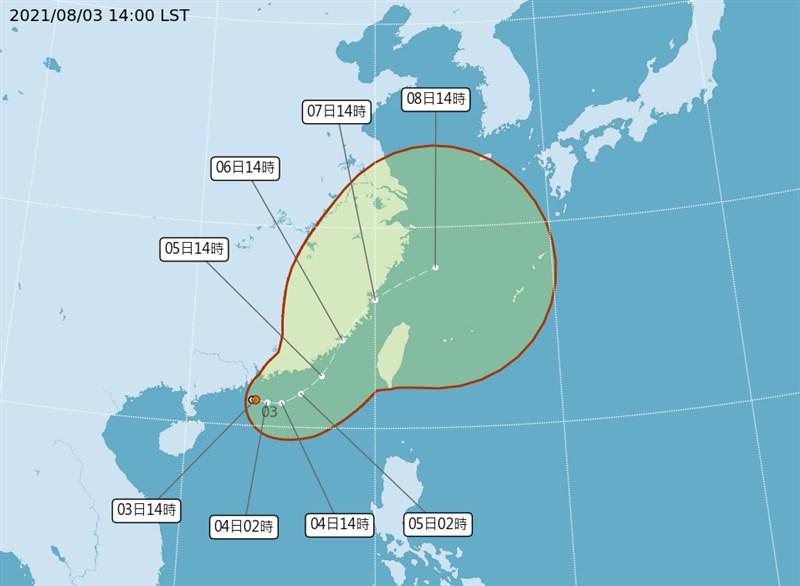 氣象局表示,颱風「盧碧」最快可能在3日晚至4日形成,預估5日至7日通過台灣海峽。(圖取自中央氣象局網頁cwb.gov.tw)