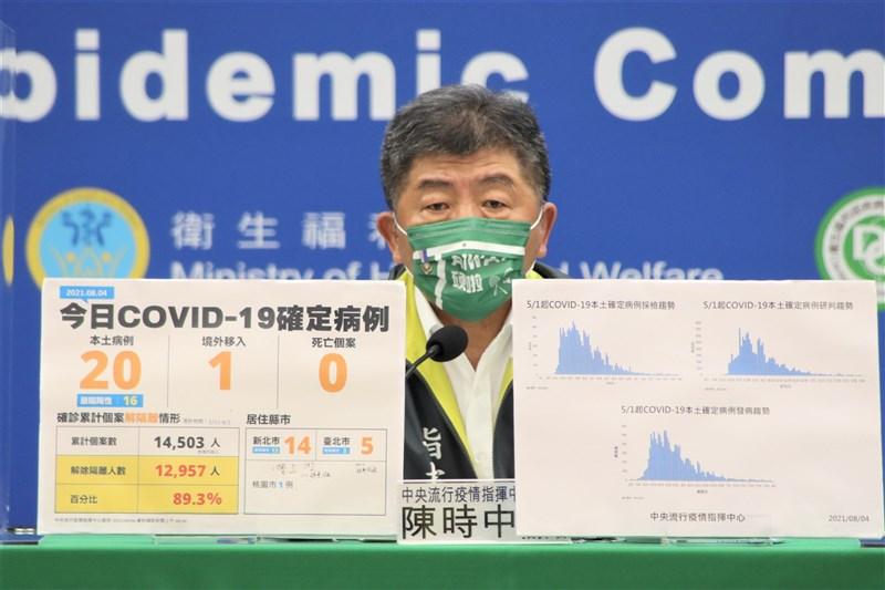 指揮中心指揮官陳時中4日表示,政治人物不應呼籲不要施打疫苗,「自己不打就不要打,別人還要打」。(指揮中心提供)