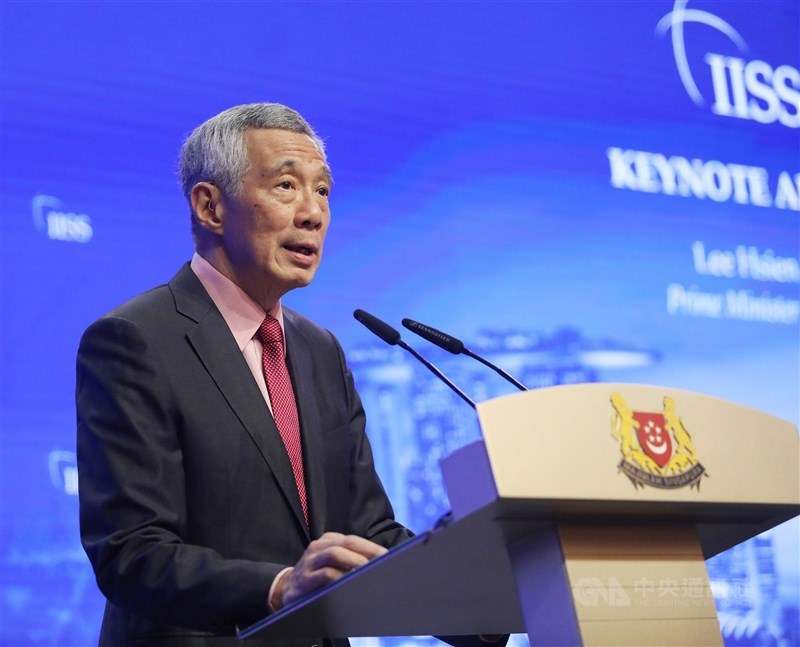 新加坡總理李顯龍頓3日警告美國別再挑釁地挑戰中國,並特別提到台灣是潛在的衝突爆發點。(中央社檔案照片)
