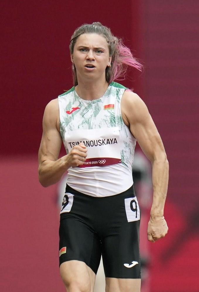 在日本參加東京奧運的白俄羅斯選手齊瑪諾斯卡雅1日被國家代表隊強迫返國,對外求助後獲波蘭核發人道簽證。(共同社)