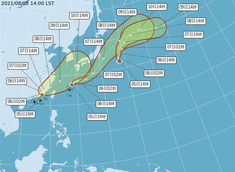 氣象局5日下午接連發布第10、11號颱風生成訊息,目前西北太平洋上有盧碧、銀河及妮妲3颱,估銀河及妮妲對台無直接影響。(圖取自中央氣象局網頁cwb.gov.tw)