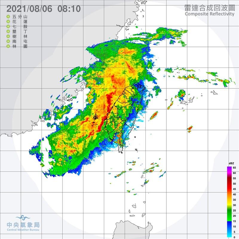 中央氣象局表示,6日持續受颱風盧碧及其外圍環流影響,易有短延時強降雨,西半部地區有陣雨或雷雨。(圖取自中央氣象局網頁cwb.gov.tw)