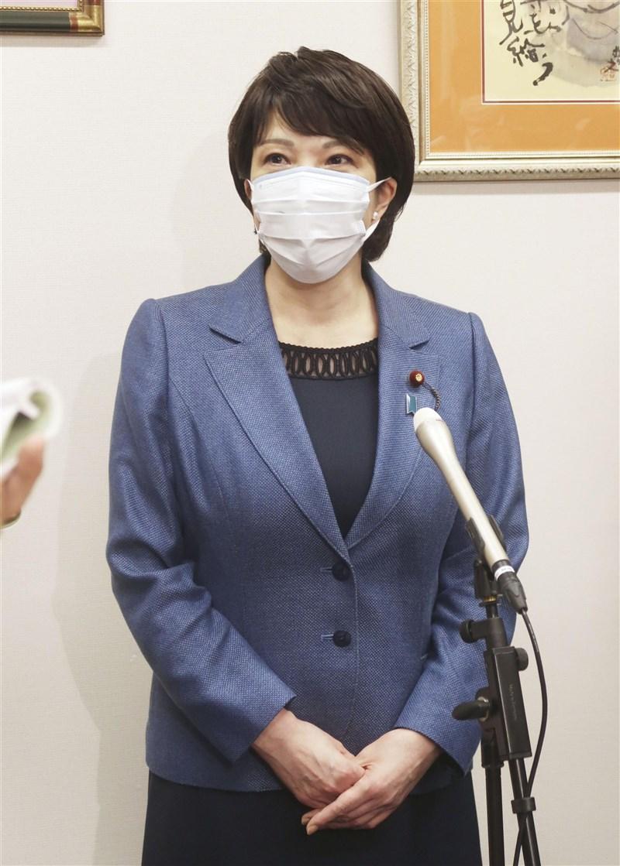 日本前總務大臣高市早苗(圖)14日接受媒體專訪時表示,蔡總統是她所憧憬的女性。(共同社)